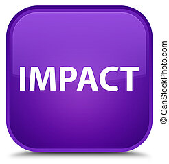 Impact isolated on special purple square button abstract illustration