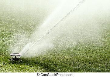 Impact sprinkler in action