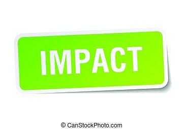 impact square sticker on white