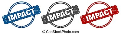 impact stamp. impact sign. impact label set
