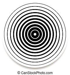 impacto, círculos, abstratos, anéis, efeito, ondulação, concêntrico, geomã©´ricas, element.