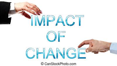 impacto, cambio, palabras