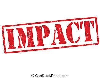 impacto, estampilla
