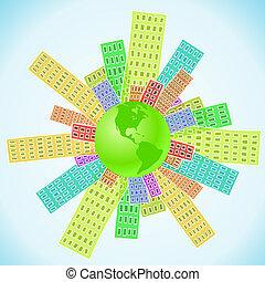 impacto, -, humano, tierra, población, mundo