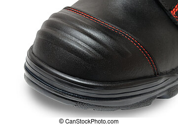 impacto, sapatos, resistente, trabalho, especiais, dedo pé