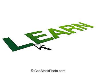 imparare, prospettiva, segno