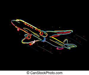 impaurito, aeroplano