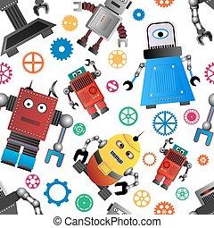 impaurito, robot, fondo