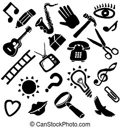 impaurito, vettore, oggetti