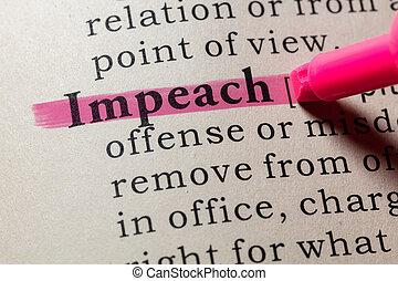 impeach, définition
