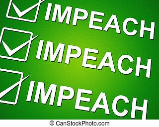 Impeach Vote To Remove Corrupt President Or Politician
