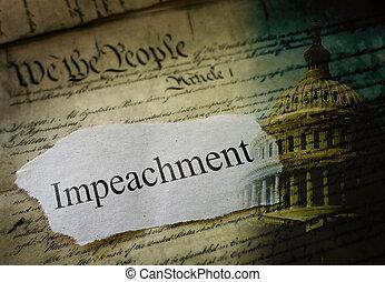 Impeachment Constitution and US Capitol