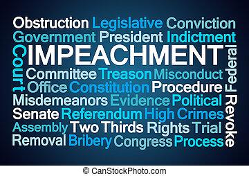 impeachment, parola, nuvola