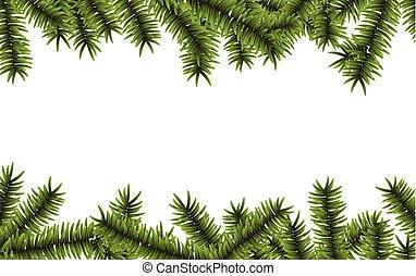 impeccable, branches., noël, fond