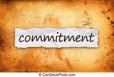 impegno, titolo, su, pezzo carta