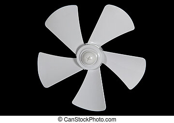 Impeller fan isolated on a black background