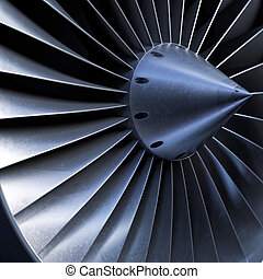 Impeller turbine close up shot