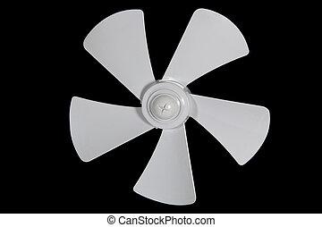impeller, ventilador, isolado, ligado, um, experiência preta