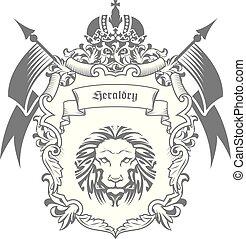 Imperial coat of arms - heraldic emblem or royal blazon