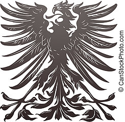 Imperial eagle most resembling that used on the coat of arms of the German empire in the late 19th century.