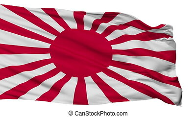 Imperial Japanese Army War Flag Isolated Seamless Loop