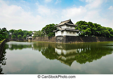 Imperial Palace - Outer tower of Iperial Palace in Tokyo,...