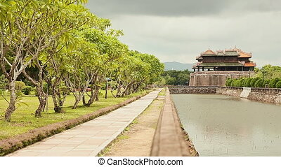 Imperial Royal Palace of Nguyen dynasty in Hue, Vietnam. -...