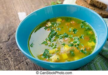 imperiale, italiano, -, zuppa, sopa