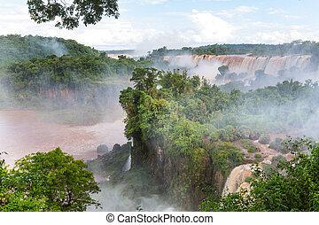 Iguazu - Impessive Iguassu (Iguazu) Falls on the Argentina -...