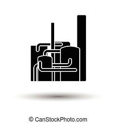 impianto chimico, icona