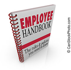 impiegato, manuale, regole, policies, seguire, lavoro, linee...