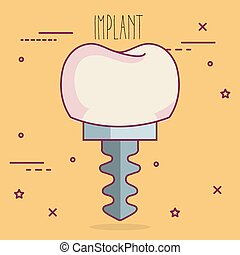 implant dental care icon