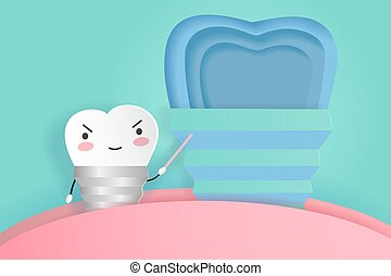 implant tooth with dental care