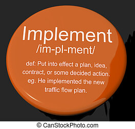 Implement Definition Button Shows Executing Or Carrying Out...
