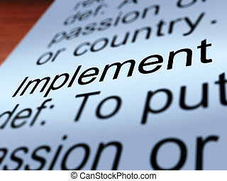 Implement Definition Shows Executing A Plan - Implement...