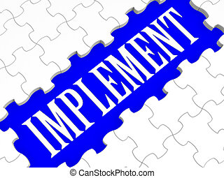Implement Puzzle Shows Performing Plans And Ideas