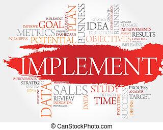Implement word cloud, business concept