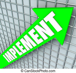 Implement Word Arrow Execute Strategy Plan Improvement