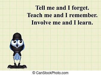 implicar, mí, y, yo, aprender