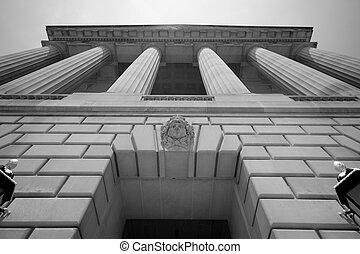 imponujący, gmach, waszyngton dc, rząd