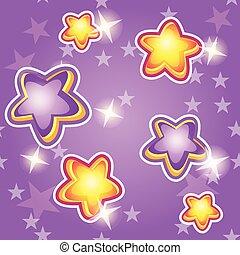 imporpori sfondo, stelle, cartone animato