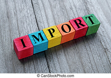 import, begreb