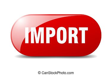 import button. sticker. banner. rounded glass sign - import ...