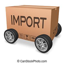 importation cardboard box logistics and freight...