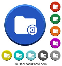 Import directory beveled buttons - Import directory round...