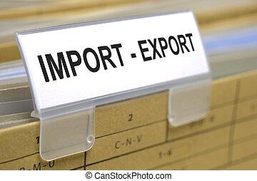 import, eksporter
