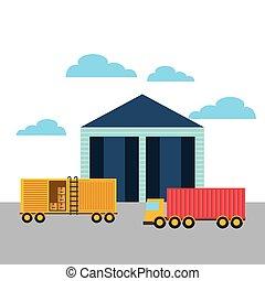 import, exportera, design