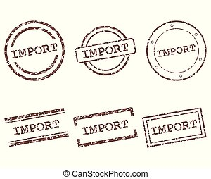 Import stamps