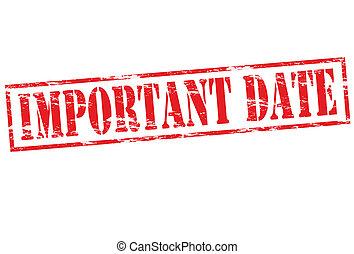 Important date - Rubber stamp with text important date...