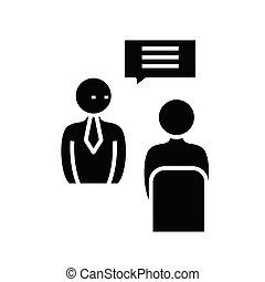 Important instructions black icon, concept illustration, ...